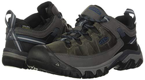 KEEN Men's Targhee 3 Low Height Waterproof Hiking Shoe, Steel Grey/Captains Blue, 7
