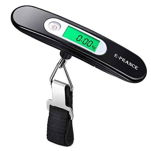 E-PRANCE Pèse Bagage Electronique/Pèse Valise de Voyage Balance Numérique Portable Extérieur LCD Rétro-clairé Max 50 KG/ 110 LB Idéal pour...