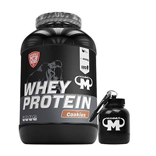 3kg Mammut Whey Protein Eiweißshake - Set inkl. Protein Shaker oder Powderbank (Cookies, Gratis Mammut Powderbank)