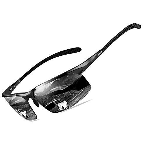 Bircen Mens Polarized Carbon Fiber Sunglasses UV Protection Sports Fishing Driving Sunglasses