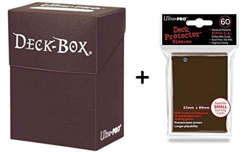 Ultra Pro Deck Box + 60 Small Size Protector Sleeves - Braun - Brown - Yu-Gi-Oh! - Japanese Mini