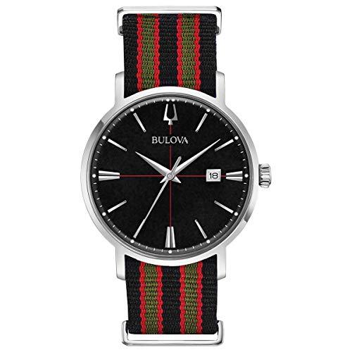 Relógio de pulso clássico Bulova: Aerojet Preto Vermelho e Verde 96B317