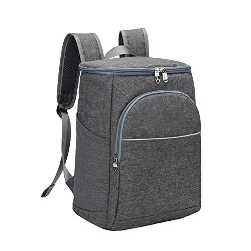 Heiqlay picknickrucksack kühlrucksack kühltasche Rucksack Picnic Backpack, Wasserdicht Auslaufsicher, warm und kühlend, für Camping, Schule, Picknick, Angeln, 36x26x20cm, grau