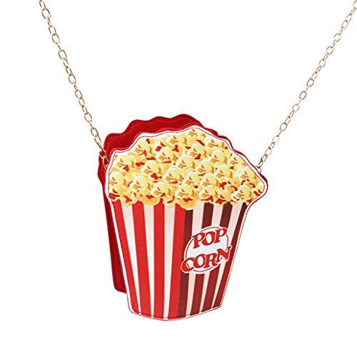 Chinget Damen Mädchen Nette Popcorn Form Kuriertaschen Handtaschen Schulter Beutel Tote Beutel PU-Leder