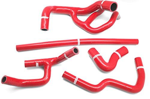 Autobahn88 Kit de tuyau Silicone radiateur liquide de refroidissement, Maquette ASHK104-RD-WC (Rouge - dont la valeur Clamp)