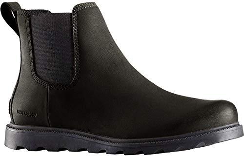 Sorel Womens Ainsley Chelsea Winter Leather Elastic Dealer Ankle Boots - Black - 8