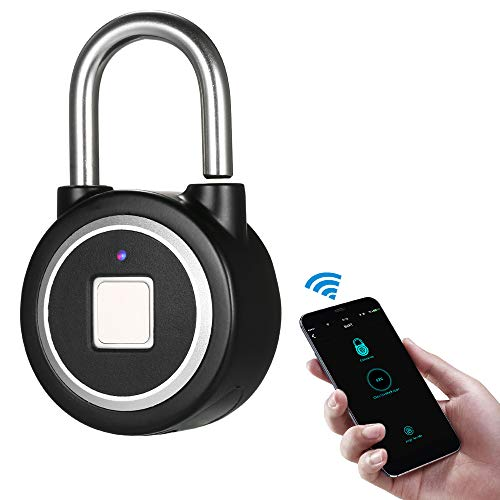 Tidyard BT Fingerprint Smart Keyless Lock Wasserdichtes APP/Fingerprint Entsperren Diebstahlsicheres Vorhängeschloss Tür Gepäck Kofferschloss für Android iOS System