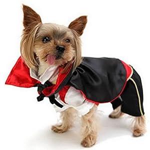 Zunea Pet Vêtements Vêtements pour chiens de petite taille Chat Vampire Doggie Costume Monster Cape Halloween