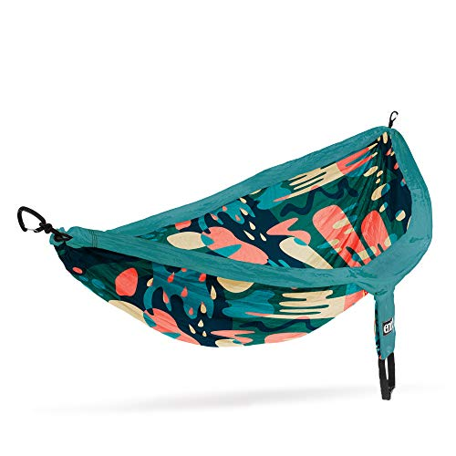 ENO, Eagles Nest Outfitters DoubleNest Print Lightweight Camping Hammock, 1 to 2 Person, Lagoon