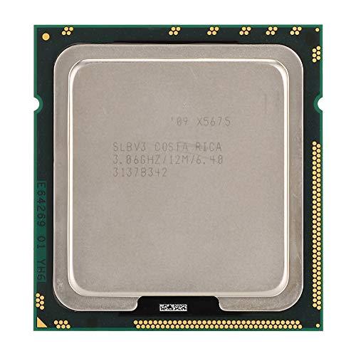 Tonysa CPU Prozessor Für Xeon X5675 Sechs-COR Zwölf Threads 12M Cache LGA1366 Offizielle CPU Version 6.4GT/s QPI Bus