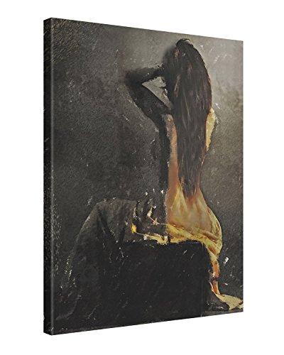 Picanova – Learning to go Back 100x75cm – Premium Leinwanddruck – Kunstdruck Auf 2cm Holz-Keilrahmen Für Schlaf- Und Wohnzimmer Von Galen Valle