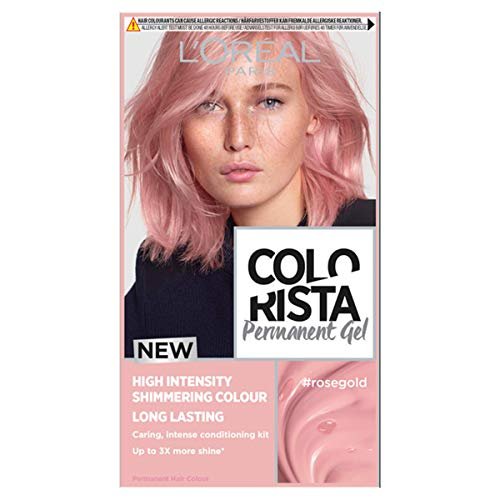 L Oréal Paris Colorista Permanent Gel Hair Dye, Long-Lasting and Vibrant At-Home Hair Colour, High-Intensity Hues with Up to 3x More Shine, Colour: Rose Gold