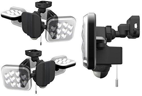 『ムサシ RITEX フリーアーム式LEDセンサーライト(8W×2灯) 「コンセント式」 防雨型 LED-AC2016』の8枚目の画像