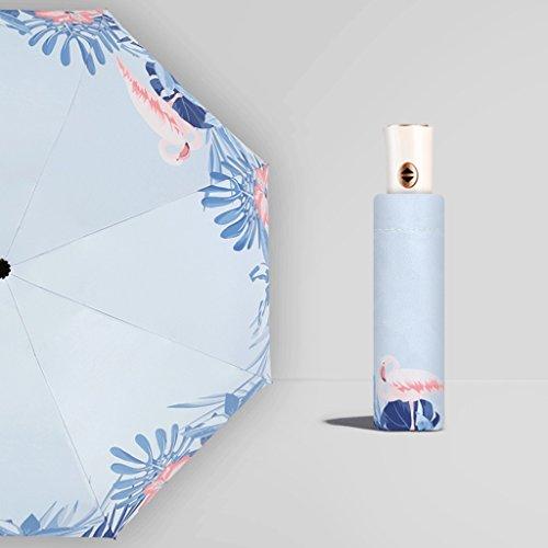 Paraplu QIQIDEDIAN Zon vouwen automatische versterking Sen vrouwelijke lijn retro eenvoud Queen