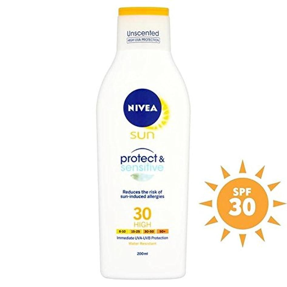 チェス規模検体Nivea Sun Pure & Sensitive Lotion SPF 30 200ml - ニベア日純粋な&敏感ローション 30の200ミリリットル [並行輸入品]