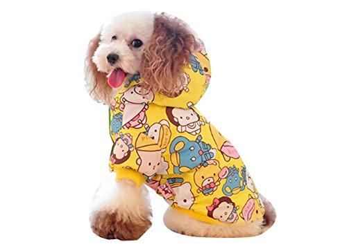 Blancho confortable d'hiver pour chien Veste imperméable pour animal domestique Vêtements (Jaune, taille : L)