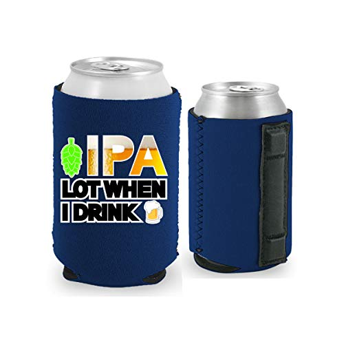 IPA Lot When I Drink Magnetic Can Coolie (1, Navy)