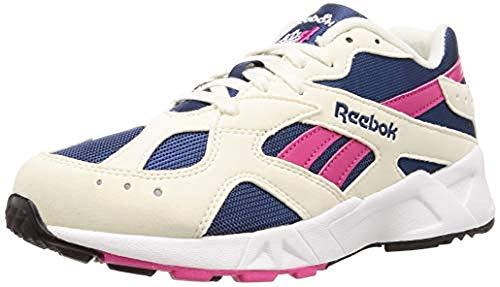 Reebok - CN7068 AZTREK - Zapatillas deportivas clásicas unisex, para el tiempo libre, color blanco, beige, rojo y azul, talla, color Multicolor, talla 36 EU