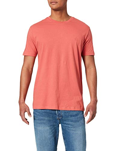 Springfield Camiseta básica Logo Camisa, Fucsia, L para Hombre