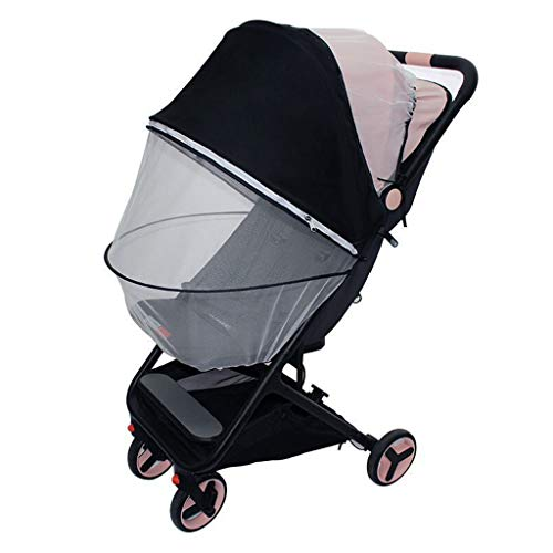 JOYKK Baby Poussette Universal Mosquito Net Summer Sunshade Full Cover Babies Carriage Child Nets - White