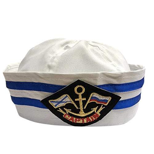 thematys® Cappello da Marinaio Costume per Uomo e Donna - Perfetto per Carnevale - Taglia Unica (D)