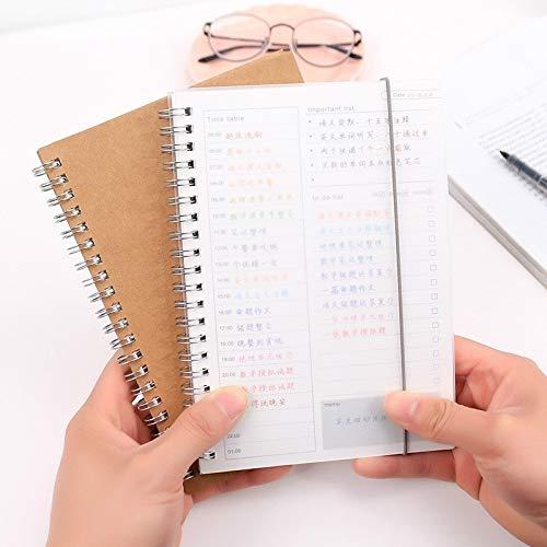 Estudiantes y suministros de oficina MMGZ Notebook planificador de la agenda libro diario Kraft mini papel de la libreta (cubierta de papel Kraft) La alta calidad (Color : Kraft paper cover)