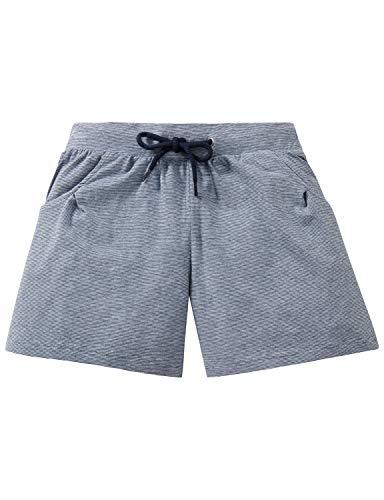 Schiesser Mädchen Mix & Relax Jerseyshorts Schlafanzughose, Blau (Blau 800), 152 (Herstellergröße: S)
