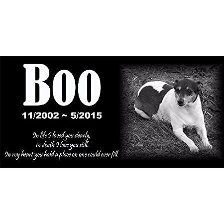 Pet Dog Human Stone Memorial Engraved Marker Granite 6 x 12 cat horse Bird Garden stone