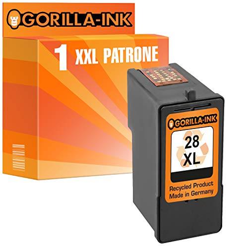 Gorilla-Ink 1 Patrone kompatibel für Lexmark 28 XL | Black 25ml XXL-Inhalt