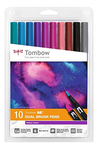 Tombow ABT-10C-3 - Rotuladores (base de agua, 10 unidades), color blanco