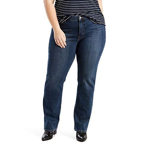 Levi's Women's 414 Plus-Size Classic Straight Jean's, Oak Blues, 40 (US 20) R