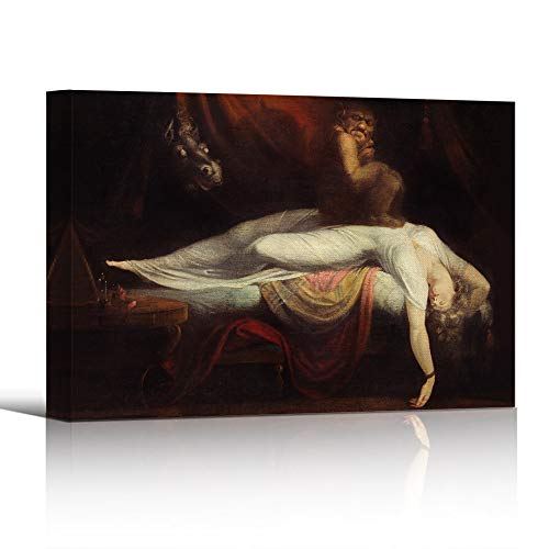 bestdeal depot Canvas Wall Art Prints for Living Room,Bedroom The Nightmare 1781 Ready to Hang - 32x48 inches