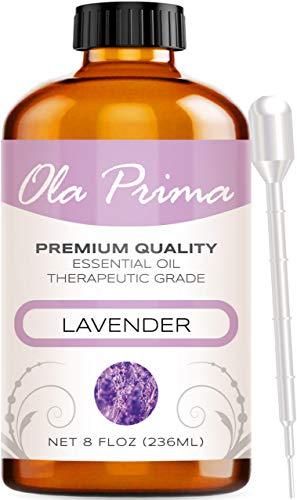 Ola Prima 8oz - Premium Quality Lavender Essential Oil (8 Ounce Bottle) Therapeutic Grade Lavender Oil