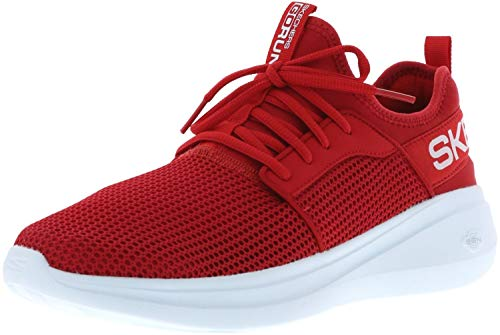 Skechers Men's GO RUN FAST Trainers, Red (Red Textile/Trim Red), 10 (44.5 EU)