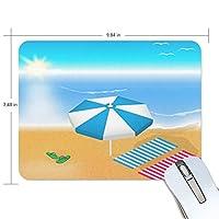 マウスパッド かわいい 海 砂浜 日光浴 太陽 晴れ 高級 ノート パソコン マウス パッド 柔らかい ゲーミング よく 滑る 便利 静音 携帯 手首 楽