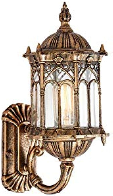 ATR Europische Auenwandleuchte Wasserdicht Auenwand Wandbehang Laterne Dekoration Balkon Flur Hof Glas Wandleuchte Wandlampen in Antike (Farbe  Bronze-Up)