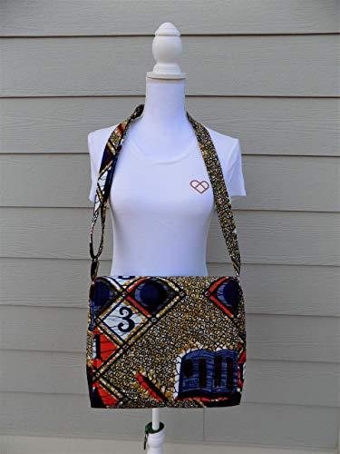African Print Messenger Bag, Cross Body Handbags, African Fabric Bag, Women Messenger Bag, Men African Bag, Unisex African Bag, Laptop Bag