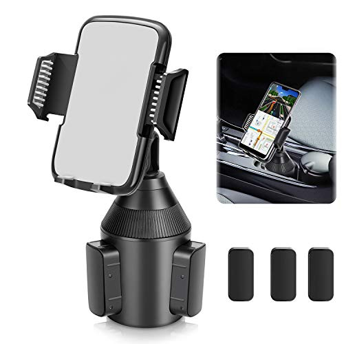 Car Cup Holder Phone Mount,Universal Smart Adjustable Automobile Cell Phone Mount for iPhone 12 MAX/PRO/11 pro/Xs/X/XR/8/7/6 Plus Samsung Galaxy S20/S10/S9/S8 Note 9 Nexus Sony/Huawei/Smartphones