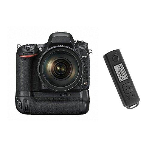 EACHSHOT Battery Grip / Battery Grip per SLR Fotocamera Digitale Nikon D750 con timer incorporato di controllo 2.4G - come MB-D16
