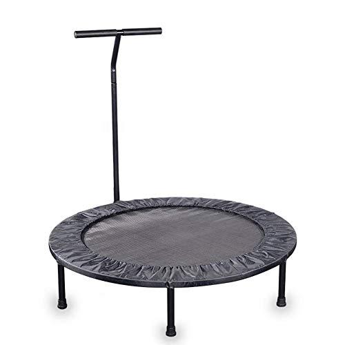 Trampoline voor binnen en buiten, aerobic-oefening, met armleuningen, bouncing bed, geschikt voor volwassenen en kinderen, eenvoudig op te vouwen, eenvoudig op te bergen