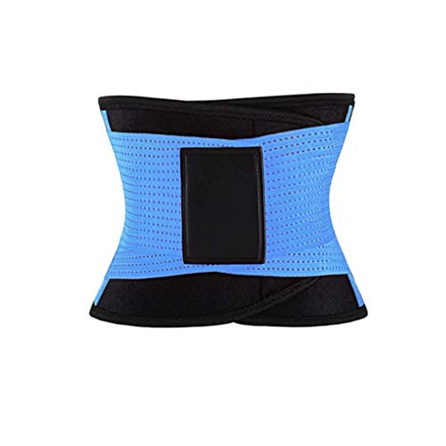 BeYOUtiful Women's Double Strap Adjustable Sauna Corset Waist Trainer is Just What You Need to Maximize Your Weight Loss Goals (Blue, XL)
