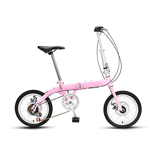 Great Features Of 16in Adult Bikes Folding Cruiser Bike, High Strength Steel Frame Bicycle, City Com...