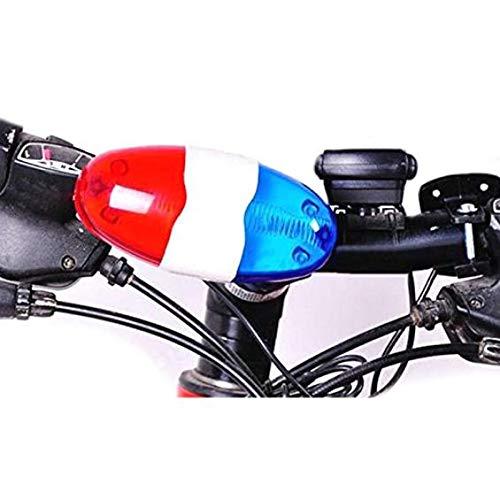 Fahrrad-Bell-Horn-Licht -6 Licht 4 ToneSuitable für elektronische Sirene Fahrradglocken für Kinder Fahrradzubehör