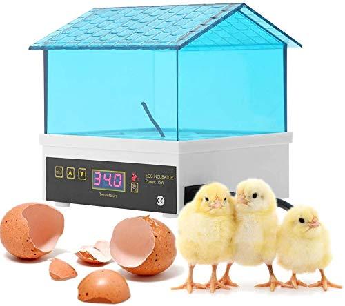 Inkubator Automatische,4 Eier Brutkasten,Digital Brutmaschine für Geflügel Huhn Ente Wachtel die Inkubation der Eier Zucht. (4 Eier)