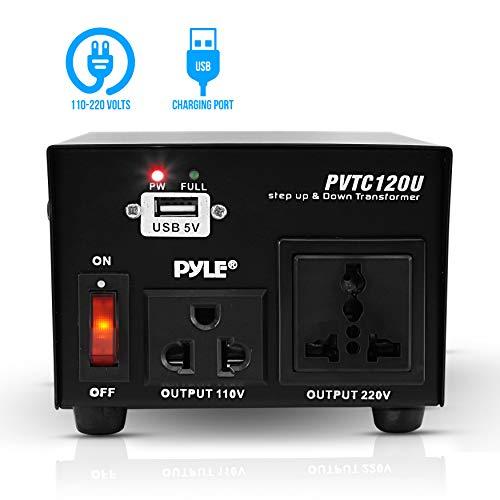 Pyle Step Up and Down Converter – 100 Watt Voltage Converter Transformer w/USB Charging Port, UK Power…