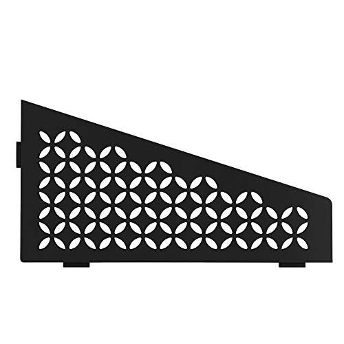 Schluter Systems Quadrilateral Corner Shelf-E - Floral Design - Matte Black - (SES3D5MGS) Kerdi-Line Shower Acessory
