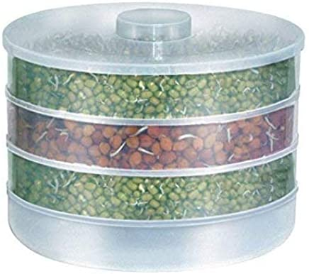 JN-STORE's Sprout Maker | Plastic Sprout Maker Box | Hygienic Sprout Maker with 4 Container | Organic Home Making Fresh Sprouts Beans for Living Healthy Life Sprout Maker 4 Bowl