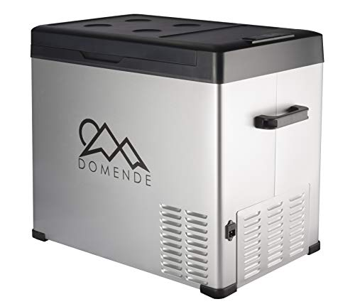 Domende 54qt Car Refrigerator Freezer 12 volt Cooler Electric Compressor Cooler Car Fridge for Car Truck Vehicle RV Boat Outdoor and Home use 12/24V DC and 90-250 AC,Cooling to -4F