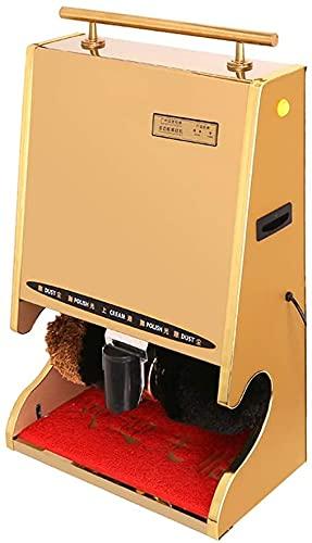 HGFHG Máquina De Limpieza Pulidora De Zapatos Máquina Automática De Limpieza De Pulido De Zapatos con Tratamiento De Eliminación De Polvo por Inducción con Shoe Wax-100w, Acero Inoxidable