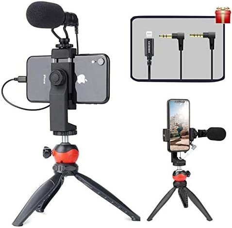 EACHSHOT Smartphone Vlogging Kit with Microphone Tripod Dongle Compatible iPhone 12 Mini Pro product image